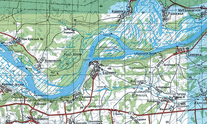 карта россии с местами рыбалки